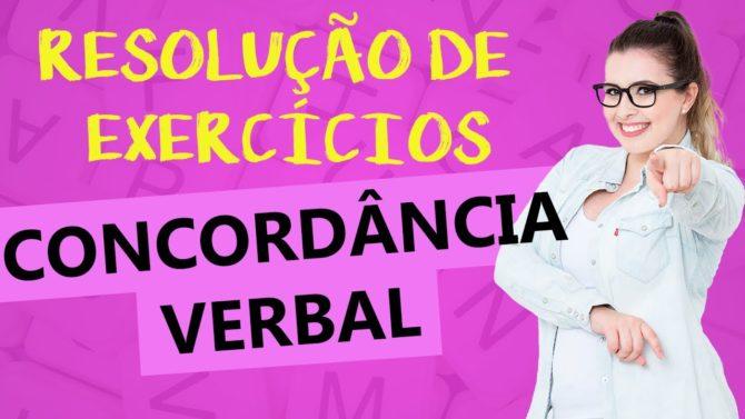 Concordância verbal: resolução de exercicios
